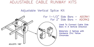 (ADCRK2) Adjustable Vertical Splice Kit, 2