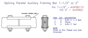 (AUXFBS112) Splice Kit, Auxiliary Framing 1-1/2