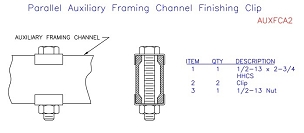 (AUXFCA2) Parallel Auxiliary Channel Finishing Clip