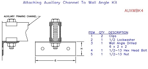 (AUXWBK4) Aux Ch to Wall Angle Brkt (included) TG