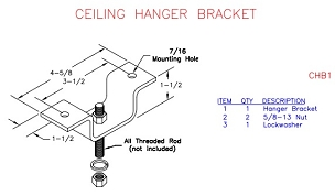 (CHB1) Ceiling Hanger Bracket Kit (5/8