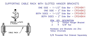 (CRSHBK13) Supt Para Cable Rack on Two Levels, 1-1/2