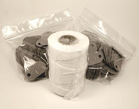 (TAG2001K) FIBER TAG KIT (200 Tags + 1 Lacing Cord)